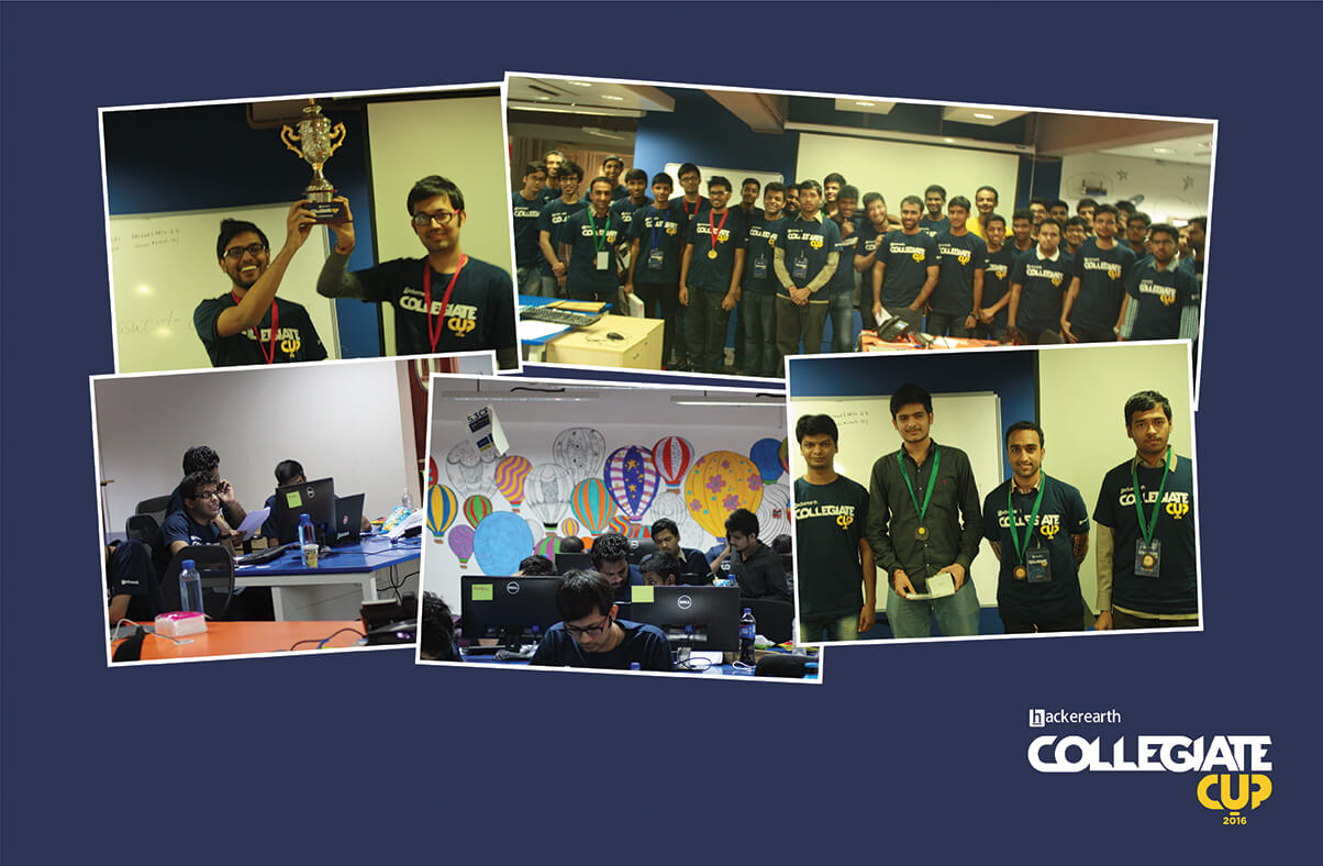 HackerEarth collegiate cup 2016, Collegiate cup 2016, College level programming challenge, College coding challenge, Coding challenges in India