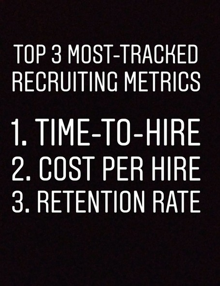 Top 3 tracked recruiting metrics